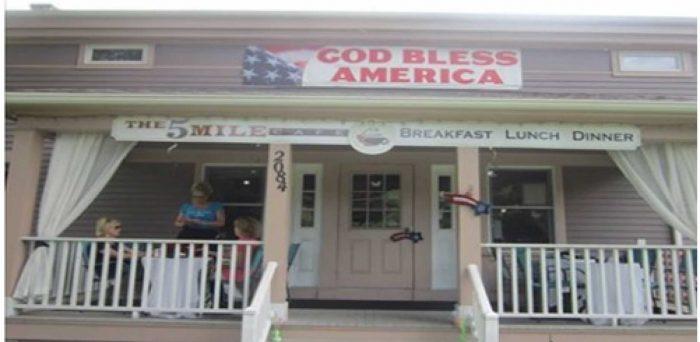 5 mile cafe banner