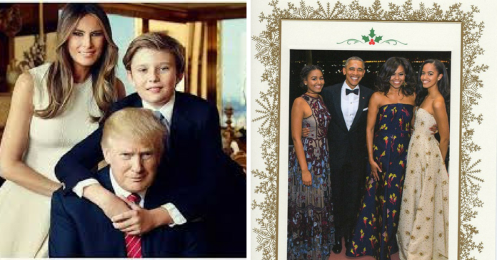 Trump Family Reveals Christmas Card 1 Major Difference From Obamas