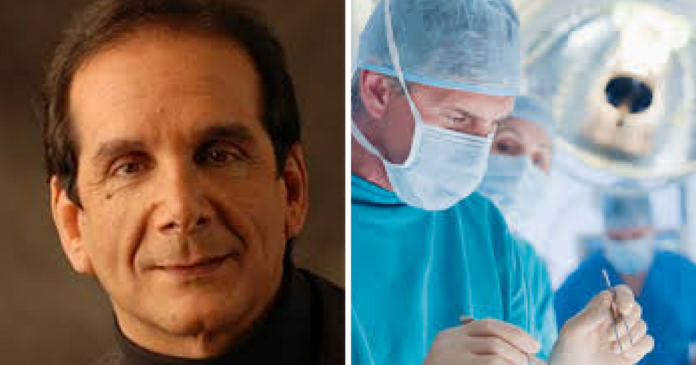 Image result for Charles Krauthammer: Recovery from surgery 'progressing steadily slower than I would like, but steadily'